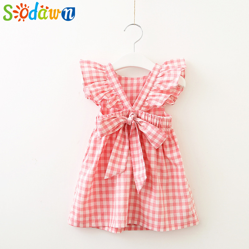Sodawn 2017 Summer Cartoon Dress Children Clothes Girls Dress Europe And United States Princess Dress+Bag Fashion Kids Clothing