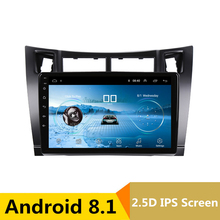 9″2.5D IPS Android 8.1 Car DVD Multimedia Player GPS For Toyota Vios YARIS 2004 2005-2010 2011 audio car radio stereo navigation