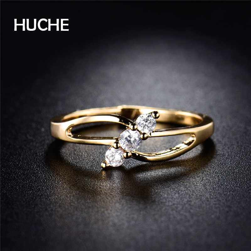 Aliexpress.com : Buy HUCHE Twisted Hollow Rings For Wome