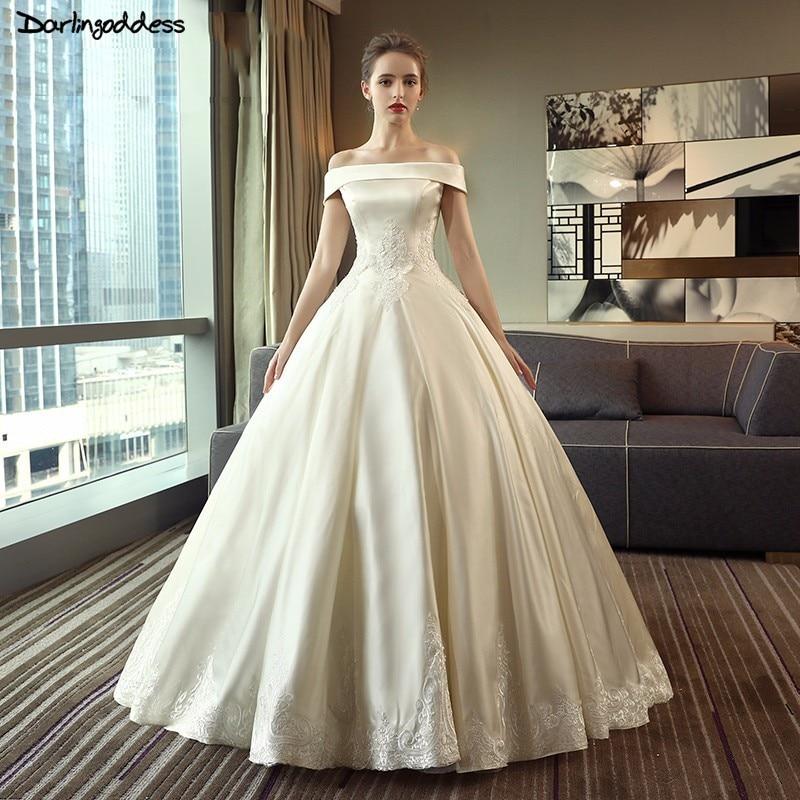 Simple Wedding Dress Europe: Robe De Mariage Simple Elegant Wedding Dress 2018
