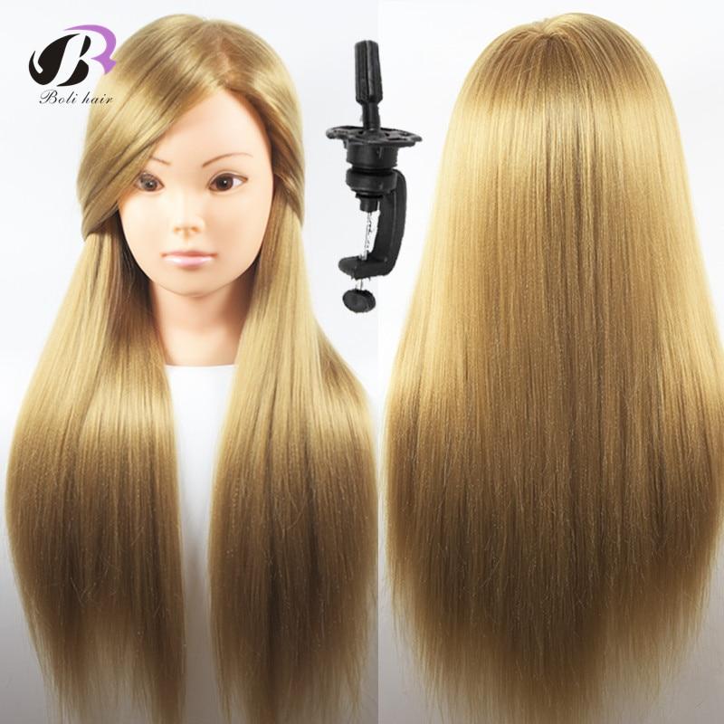 Penghantaran percuma berkualiti tinggi hairdressing kosmetologi mannequin latihan kepala hairdressing latihan kepala mannequin dengan pengapit percuma