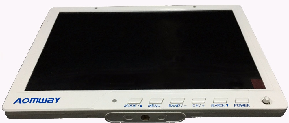 Haute qualité Aomway HD588 10 pouces 5.8G 40CH diversité FPV HD moniteur 1920x1200 avec DVR intégré batterie pour FPV Multicopter