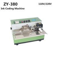 1pcs ZY 380 Automatic Coding machine film bag date printer ink coding machine Heat solid ink printer