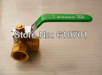 L Type 1 BSPP Female Connection Full Ports Brass Tee Ball Valve Three Way Plumbing Fittings