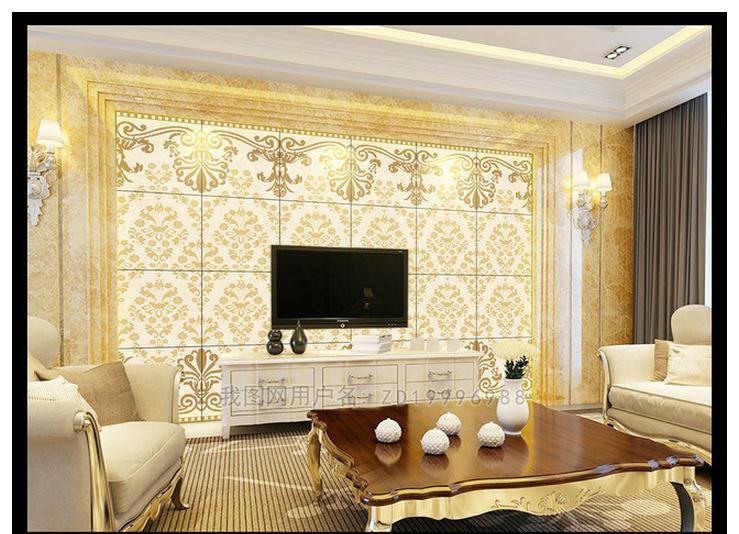Custom Photo Wallpaper 3d Wall Mural Wallpaper European-style Decorative Marble Pattern Sitting Room TV Setting Wallpaper