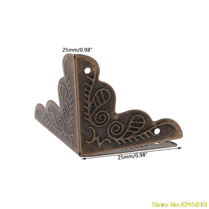 High-quality 10 Pcs Antique Jewelry Box Corner Foot Wooden Case Corner Protector Bronze Tone