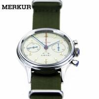 Оригинальные мужские наручные часы с хронографом Seagull, большой пилот, перемотка вручную, 304 1963 38 мм, ретро маленькие часы