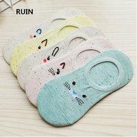 Spring And Summer Dragon Cat Socks Women S Cotton Non Slip Silicone Rubber Socks Fashion Cute