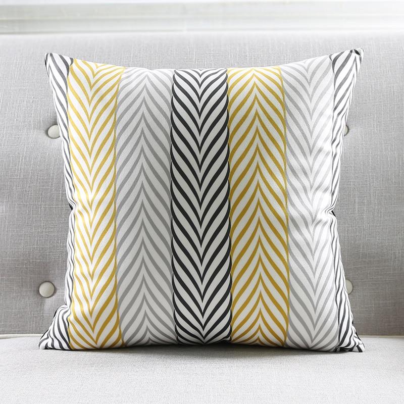 Gray Yellow Pillow Throw Pillow Cover Gray Throw Pillow Cover Delectable Gray And Yellow Decorative Pillows