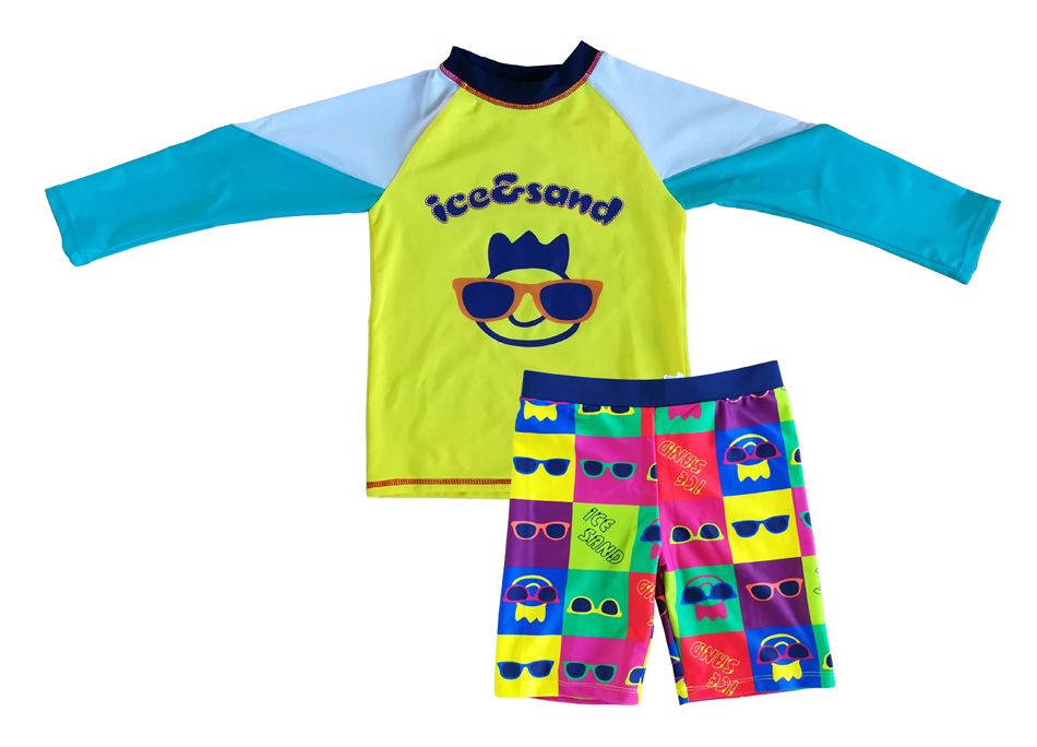 Baby Boys Swimwear Sunsuit Set Upf 50 tm Frugal Bonverano Uv Protection Two Pieces Multicolour Swimsuit Rashguard Good For Energy And The Spleen