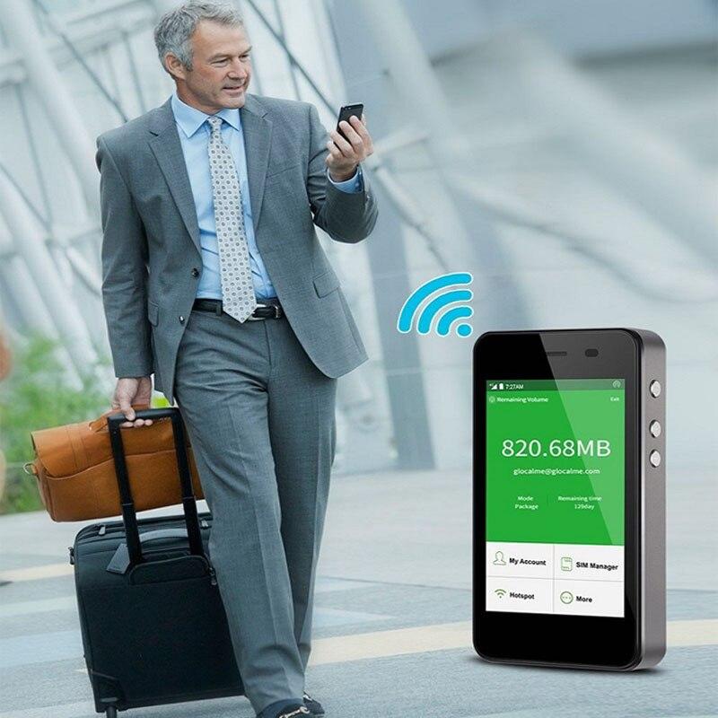 GlocalMe 4G LTE Global Pocket Wifi беспроводной маршрутизатор с 1 ГБ данных без sim карты Бесплатный роуминг Mifi Новый - 2