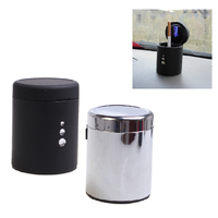 Universal Portable Cup Style LED Ashtray Smokeless For Car Use ABS Automobile Ashtray Car Styling Home