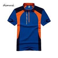 DIMUSI Quick Dry POLO Shirt Men Patchwork Summer Short Sleeve Shirts Camisas Polo Breathabl Slim Mens