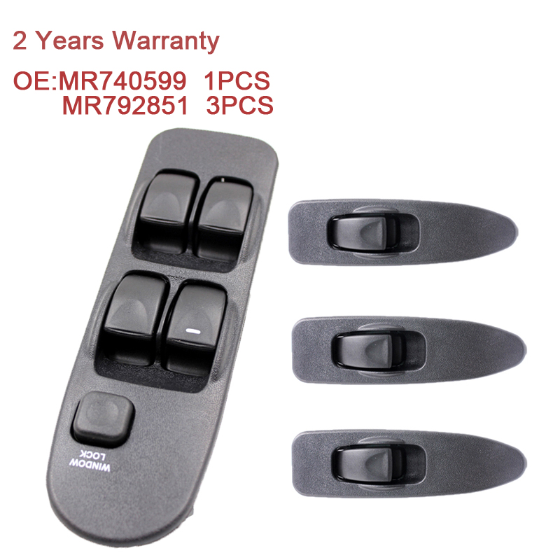MR740599 MR792851 Power Window Switch Control Master Panel Switches Front Universal Right Left 5Bottons For Mitsubishi Carisma