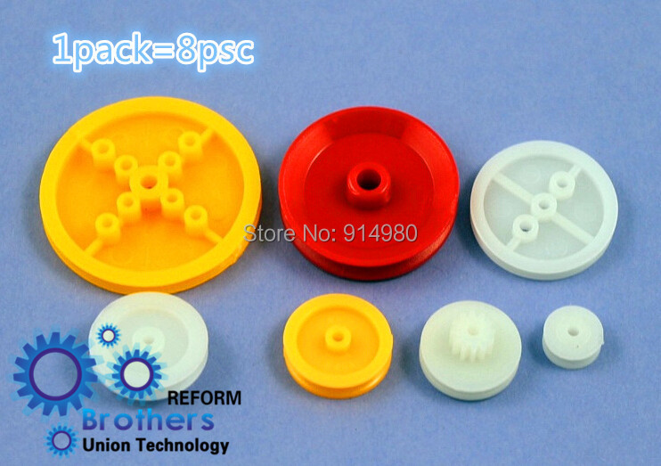 5pack=1 lot=10.88 USD Plastic pulley group wheeled drive pulley fixed pulley accessories ...