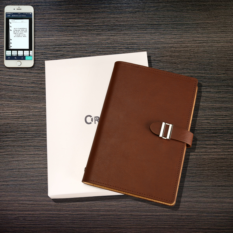 Erasable Notebook Paper Leather Waterproof Smart Reusable High-tech Notepad Card position APP Control A5 Cloud Storage Flash