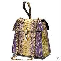 Jialante Python haut Weiblichen beutel frauen handtasche echte krokodilleder kleine quadratische tasche mode-trend schräg kleine tasche weibliche