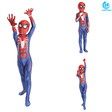 3D printing Insomniac Games Spiderman Cosplay Costume Zentai Spider Man Superhero kid Spiderman costume