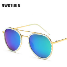 VWKTUUN Polarized Sunglasses Women Men Driving Sunglass Twin Beams Vintage Sun glasses For Male Vintage Mirror Oculos Feminino