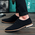 2017 Spring Loafers Men Oxford Flat Shoes Men lace-up Moccasins Shoes Cow Suede Leather Men Shoes 3 colors Casual zapatos hombre