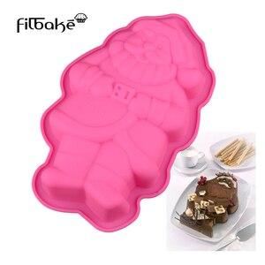 Image 1 - FILBAKE 3D DIY סיליקון סנטה קלאוס בצורת עוגת סבון עובש עוגת מחבת DIY אפיית כלים אספקת אפיית אבזרים