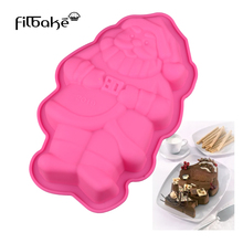 FILBAKE 3D DIY Silicone Santa Claus Shaped Cake Soap Mold Cake Pan DIY Baking Tools Christmas Supplies Baking Accessories