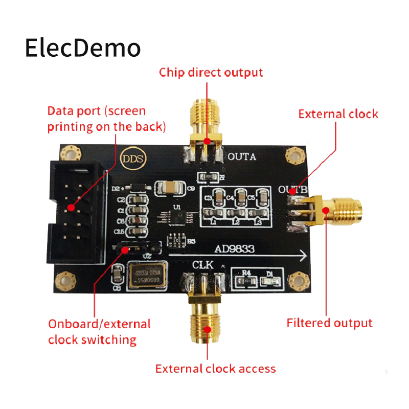 Image 2 - AD9833 DDS Signal Generator Triangle Sine Wave Signal Source Programmable Microprocessors Sine Square Wave Module-in Demo Board Accessories from Computer & Office