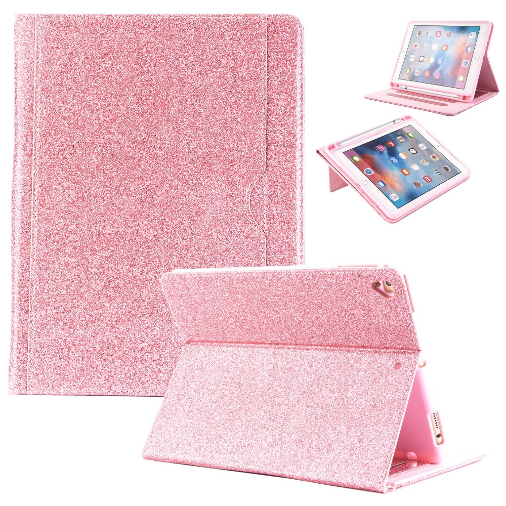 For iPad Mini Case Glitter Sparkly Folio Stand PU Leather Case with Auto Wake/Sleep Luxury Smart Cover for iPad Mini 2 3 4 1 7.9 protective pu leather stand folio case cover for apple ipad mini