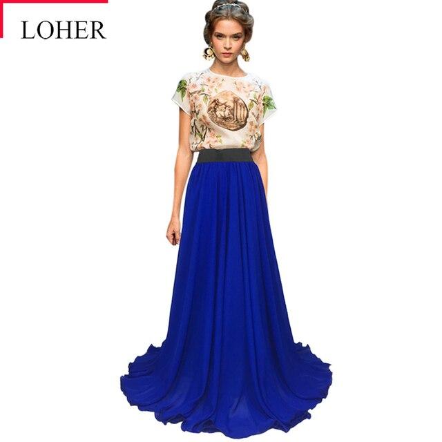 aliexpress buy loher 8 m hem plus size royal blue