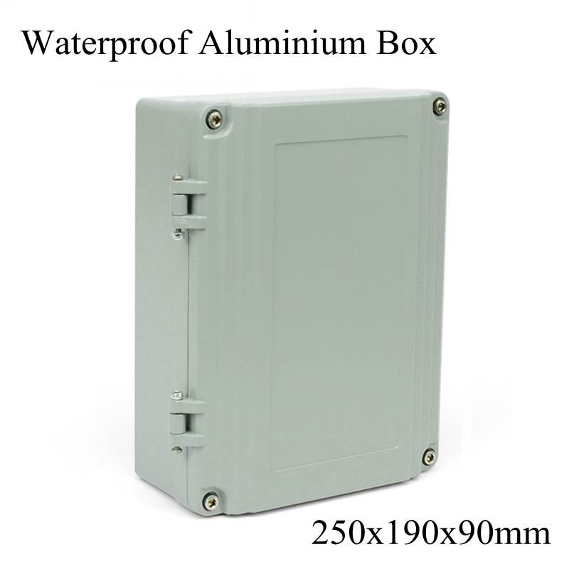 FA15 250x190x90mm En Aluminium Waterporrf Enceinte Étanche Projet Fil Électrique Câble de Jonction Cas Boîte de Distribution 250*190*90mm