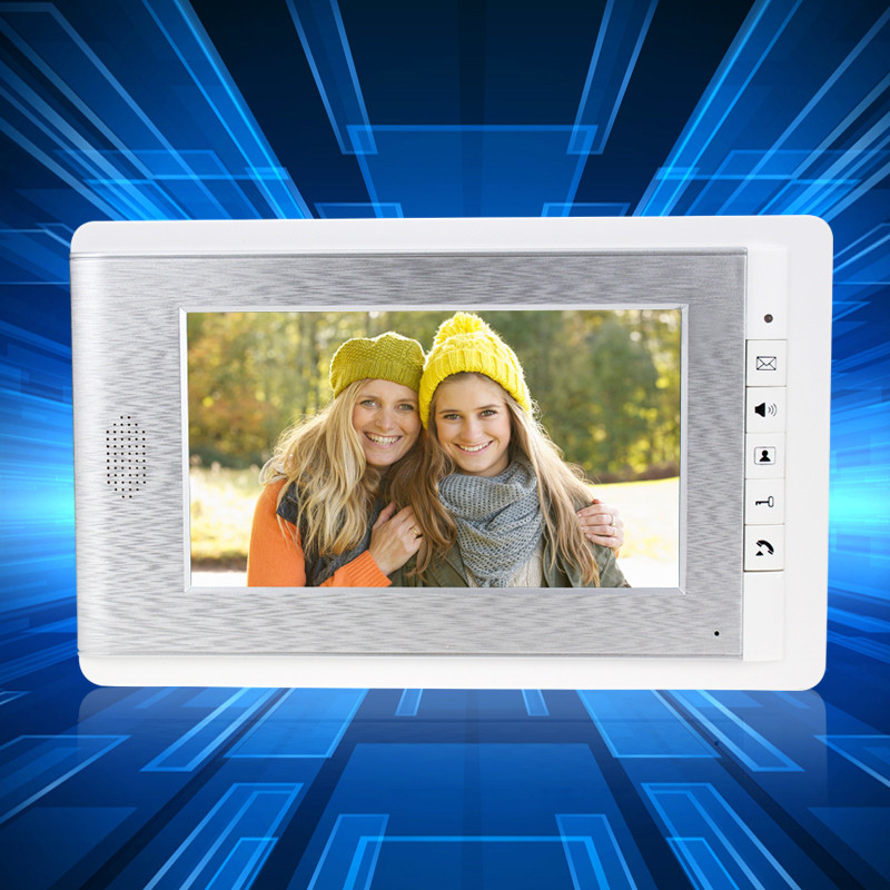 7 inch Color Video Door Phone TFT-LCD Monitor Screen Video Intercom Phone Wall Mounting Indoor Machine For DIY Intercom System 7inch video door phone intercom system for 10apartment tft lcd screen 10 flat indoor monitor night vision cmos outdoor camera