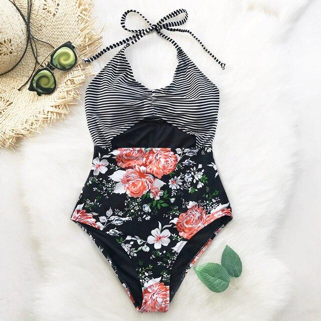 7501557789c US $14.11 10% OFF|CUPSHE Secret Fragrance Print One piece Swimsui  CutoutBikini Bathing Suit Swimwear Brazilian Biquini Monokini Maillot De  Bain-in ...