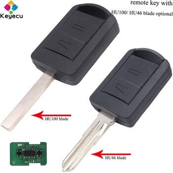 KEYECU Remote Control Car Key - 2 Buttons& 433.92MHz& ID40 Chip& HU100/ HU46 - FOB for Vauxhall/ Opel Holden Corsa Combo Meriva