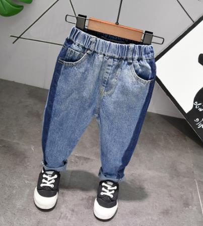 Marca primavera e verão calças de brim ocasionais das crianças roupas menino das crianças calças de brim do bebê moda jeans casual 2-6Years