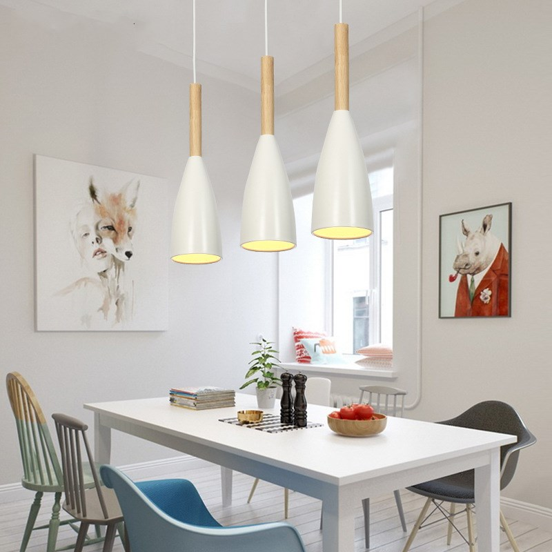 Nordic Postmodern art pendant lamp Bar counter restaurant Cafe bookstore living room wood Decoration  E27 Lamp Free ShippingNordic Postmodern art pendant lamp Bar counter restaurant Cafe bookstore living room wood Decoration  E27 Lamp Free Shipping