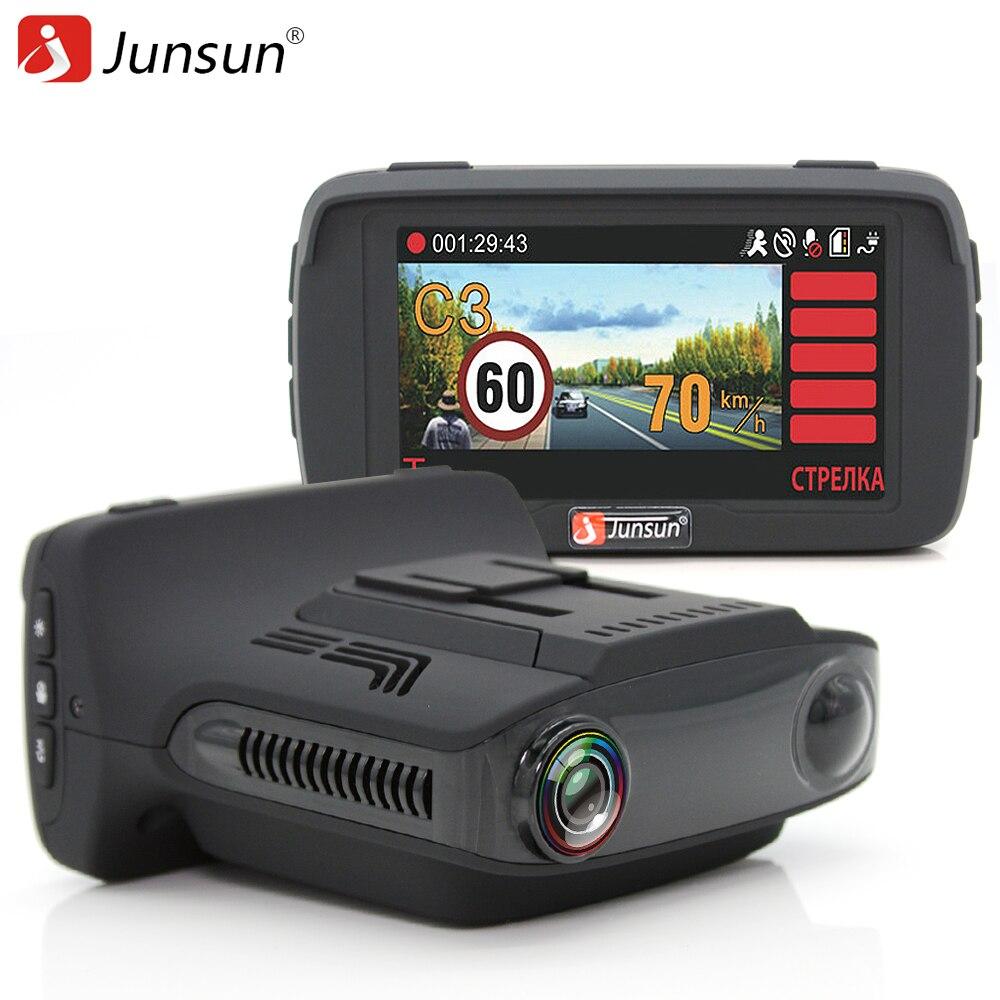 Junsun L2 Ambarella A7 Car DVR Radar Detector Gps 3 in 1 LDWS HD 1080P Video Recorder Registrar Dashcam Russian Language
