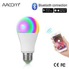 Ampul LED E27 kablosuz bluetooth akıllı ampul 15W 85 265V RGBW LED ışık ampul müzik kontrol cihazı 20 modları için geçerlidir IOS/Android
