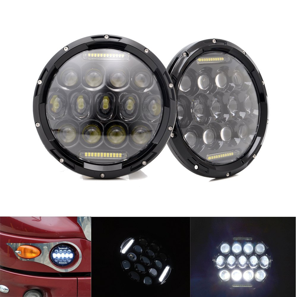 75w headlamp 7inch jeeps wrangler led headlight with drl for wrangler jk fj cruiser trucks off