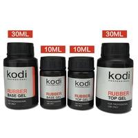 2017 Kodi Long Lasting UV Led Top Coat Rubber Base Coat Gel Polish UV Nail Primer