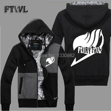 Anime Fairy Tail Cosplay Jacket Men Fashion Thick Zipper Hoodies and Sweatshirts Natsu