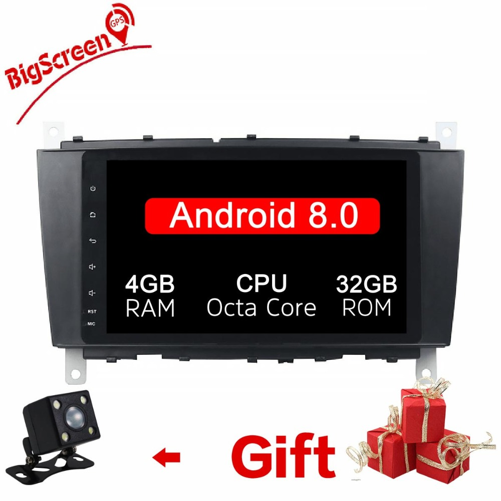 2 Din Android 8.0 RAM 4GB+32GB 8 Core Car <font><b>Radio</b></font> GPS <font><b>Navi</b></font> For Mercedes <font><b>Benz</b></font> C-Classs CLC <font><b>W203</b></font> 2004-2007 C200 C230 C240 C320 C350 image