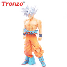 Tronzo 26 Cm Dragon Ball Super Ichiban Kuji Goku Naluri PVC Action Figure Model Mainan Ssj Dbz Goku Sliver rambut Patung-patung(China)