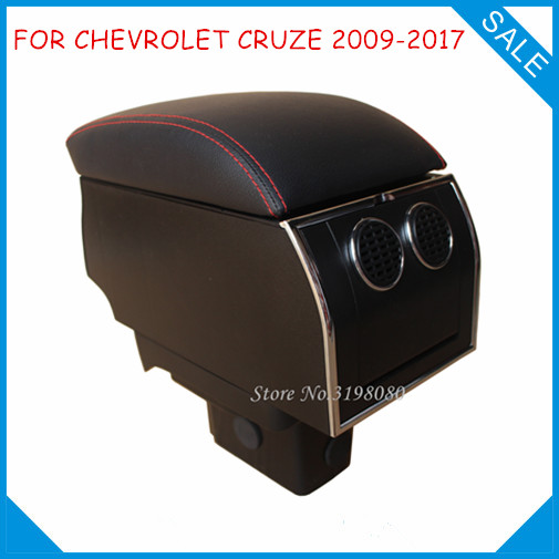 FOR CHEVROLET CRUZE 2009-2015 No drill 8pcs USB Armrest,Car center arm rest console box with hidden cup holder Car Accessories universal leather car armrest central store content storage box with cup holder center console armrests free shipping