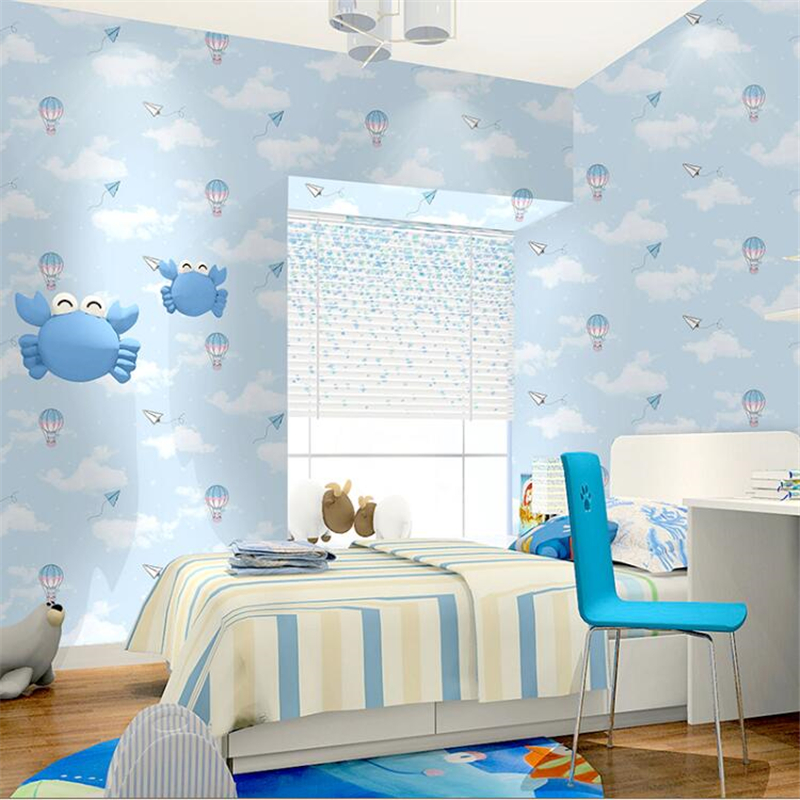 balloon sky children clouds plane paper bedroom beibehang bear boy wallpapers