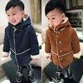 2016 do bebê de inverno meninos jaqueta espessamento outerwear crianças casacos de inverno com capuz roupas meninos além de veludo crianças jaqueta casacos