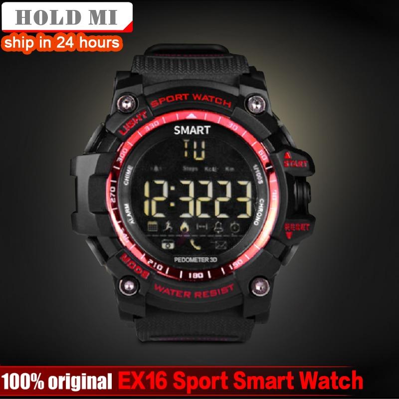 HoldMi EX16 deporte Bluetooth Smart Watch Xwatch 5ATM IP67 impermeable Smartwatch Pedometer cronómetro despertador tiempo espera largo