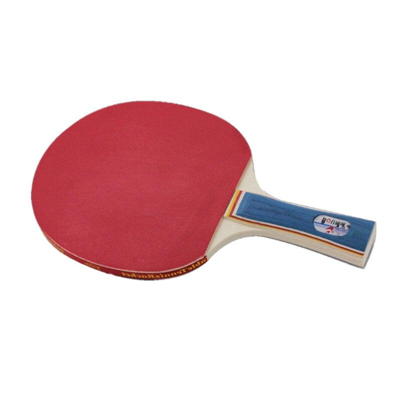 2017 Baru Set 2pcs Double Face Table Tennis Rackets Berkualiti tinggi pemegang panjang pendek dengan3pcs Balls Ping Pong Paddle racquet sukan
