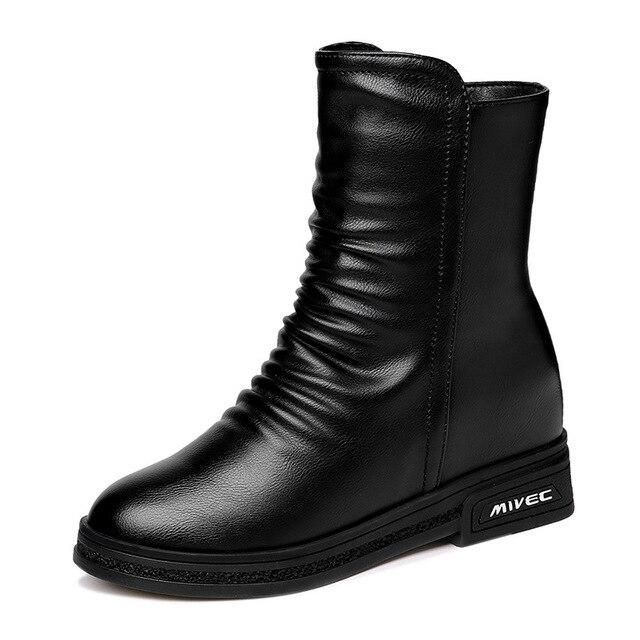Осень-зима 2019, новая Корейская версия Zenggao, женская модная обувь, Флисовая теплая хлопковая обувь, зимние ботинки