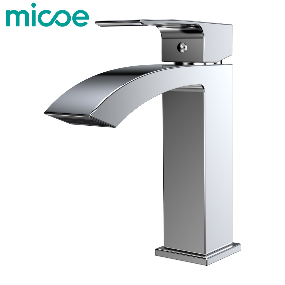 Micoe Basin Faucet Bathroom Single Hole Bathtub Faucet Ceramic Valve Hot And Cold Faucet 400ml set digital textile ink for roland for mimaki for mutoh for konica dx3 dx4 dx5 dx6 dx7 dtg flatbed printer ink kit