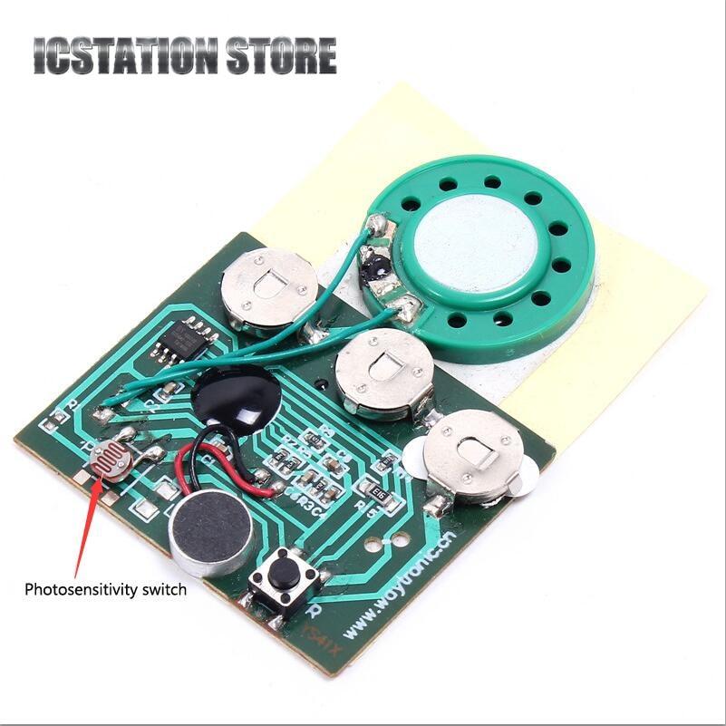 все цены на 30s 30secs Light Sensor Recordable Music Sound Chip Module Programmable Photosensitive Voice Board For Greeting Card DIY gifts онлайн